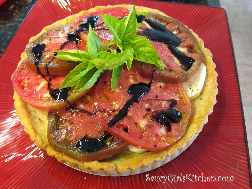 Heirloom Tomato Tart with Black Pepper Parmesan Crust