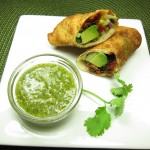 Avocado Eggrolls with Cilantro Dipping Sauce