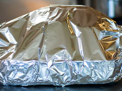 foil wrapped turkey