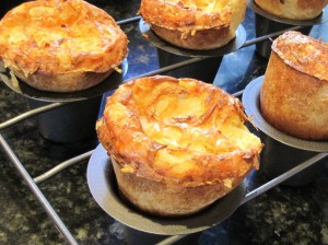 Gruyere Popovers close up