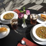 Lentil & Sausage Soup with Crusty Bread