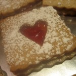 Pecan Linzer Cookie with Strawberry Filling