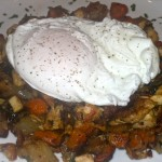 Chicken & Veggie Hash with a Poached Egg