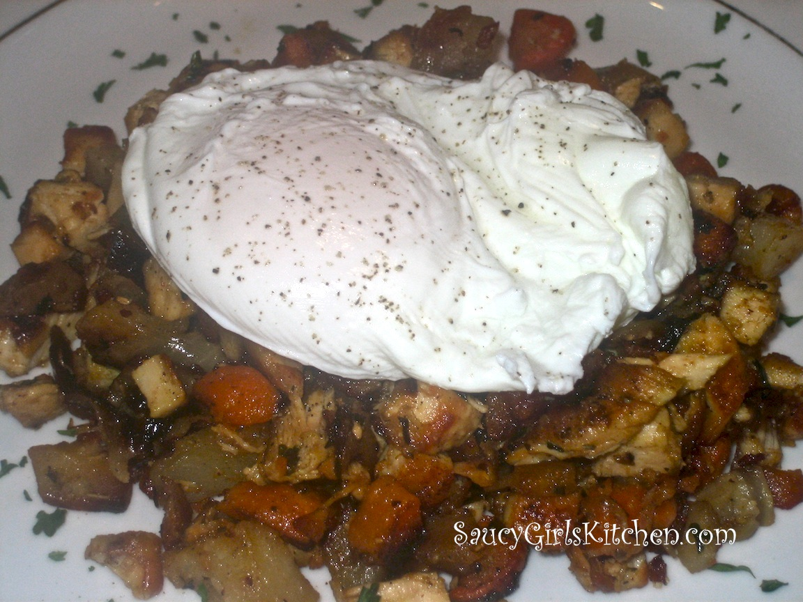 Hash with a Poached Egg on Top
