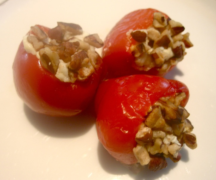 Planked Goat Cheese-Stuffed Peppadews Recipe — Dishmaps