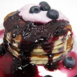 Best Ever Pancakes with Fresh Blueberry Syrup & Yogurt