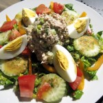 Salad with Tuna and Hardboiled Eggs
