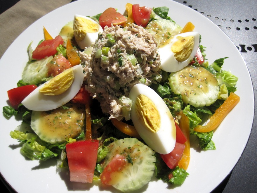 Salad with tuna hardboiled eggs great food it 39 s for Tuna fish salad recipe with egg