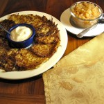 Potato Pancakes - Austrian Style with Homemade Applesauce and Yogurt