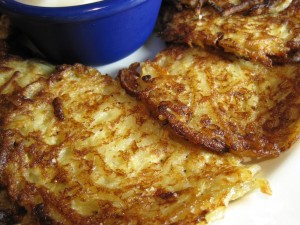 Potato Pancakes close up