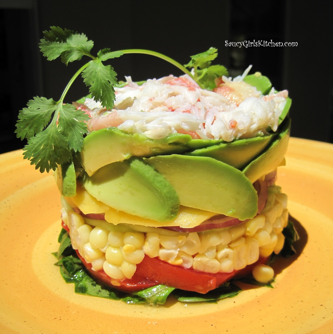 Crab Stack with Mango and Avocado