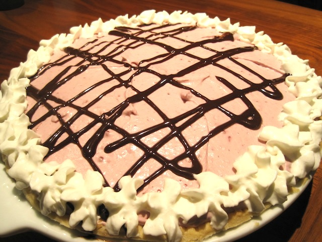 Raspberry Cream Pie with Chocolate Ganache 1
