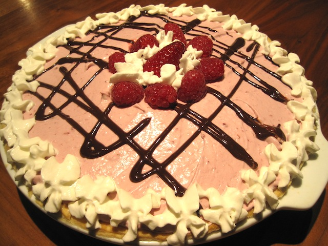 Chocolate-Raspberry Cream Pie Recipe — Dishmaps
