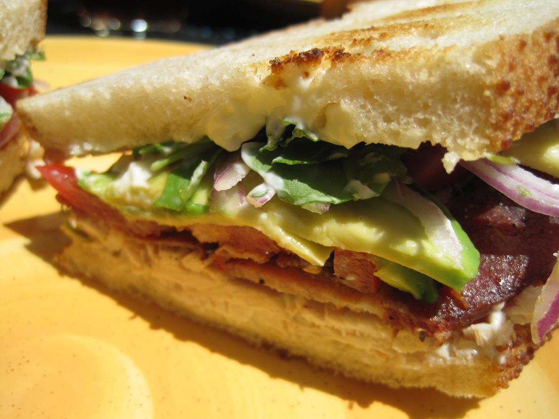 Super Club Sandwich close up