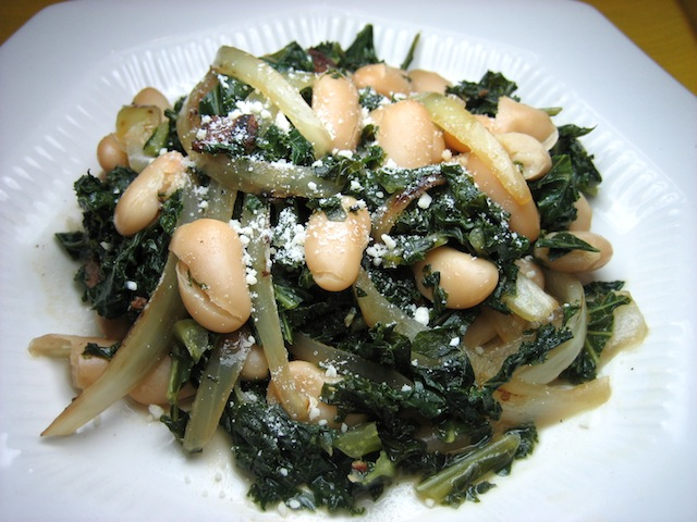 Kale with White Beans