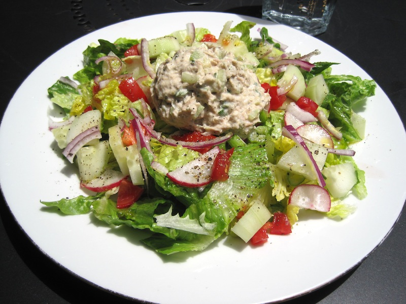 Green Salad with a Scoop of Tuna Fish Salad on top! | Great food ~ it ...