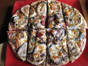 Pesto Pizza with Veggies