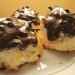Coconut Macaroons topped with Dark Chocolate