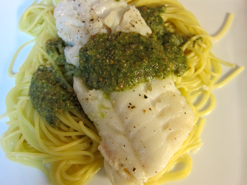 Cod with Pesto
