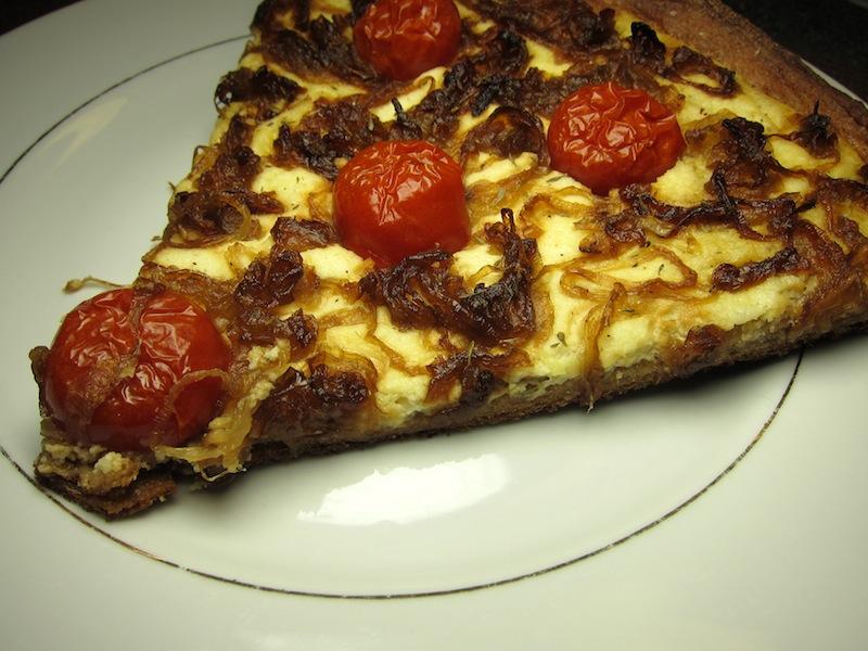 Slice of Caramelized Onion Tart