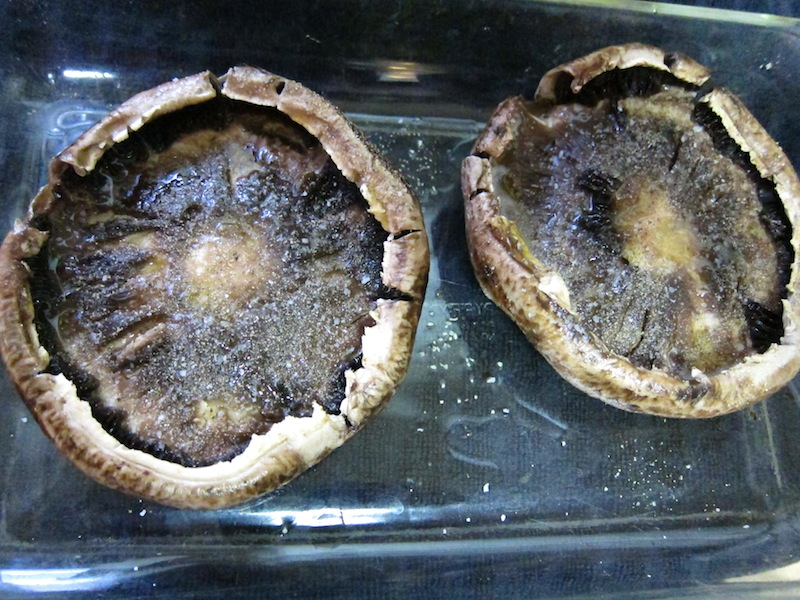 Portabella Mushrooms ready for the oven