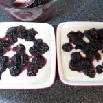 Fresh Blackberry Cobbler ready for the oven