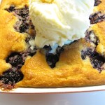 Fresh Blackberry Cobbler with Vanilla Frozen Yogurt
