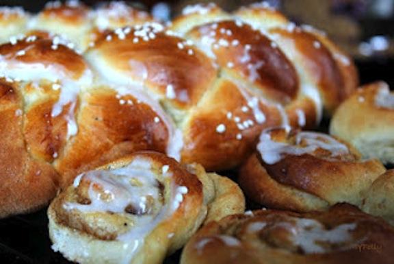 Finnish Cardamom Bread called Pulla