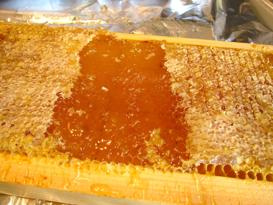 Cutting the caps off the honeycomb