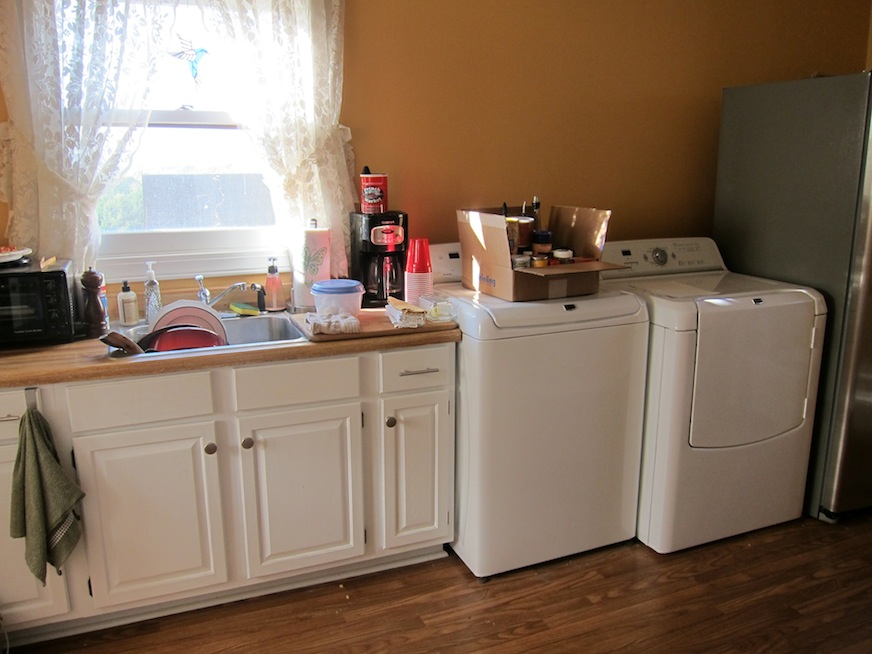 The laundry room before cabinetry