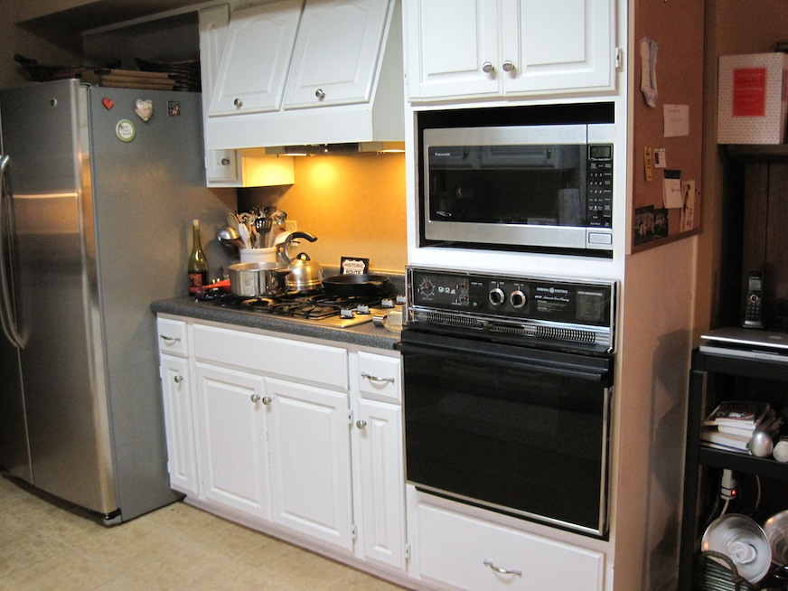 Kitchen before - stovetop