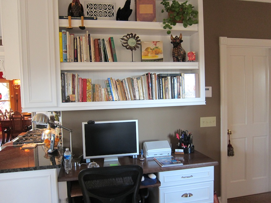 My desk and book shelves