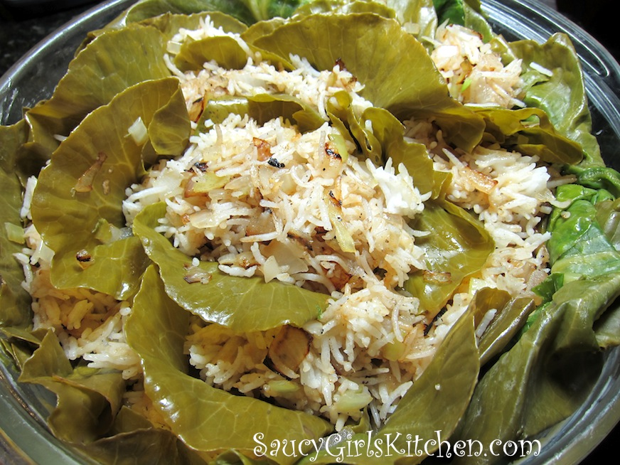 Cabbage Head stuffed with Rice