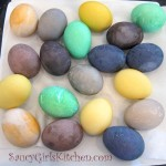 naturally colored eggs for Easter