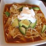 Homemade Vegetarian Tortilla Soup