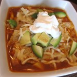 Homemade Vegetarian Tortilla Soup