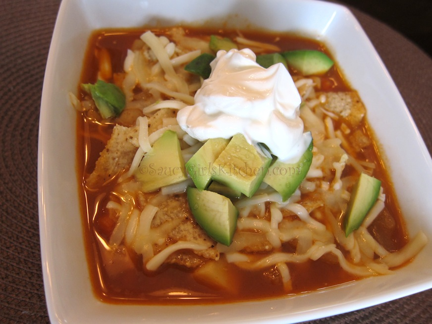 Vegetarian Tortilla Soup | Great food ~ it's really not that ...