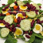 Salad with Sweet & Sour Celery Seed Salad Dressing