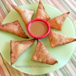 Potato Bacon Wontons with Saucy Mama Mustard Dipping Sauce