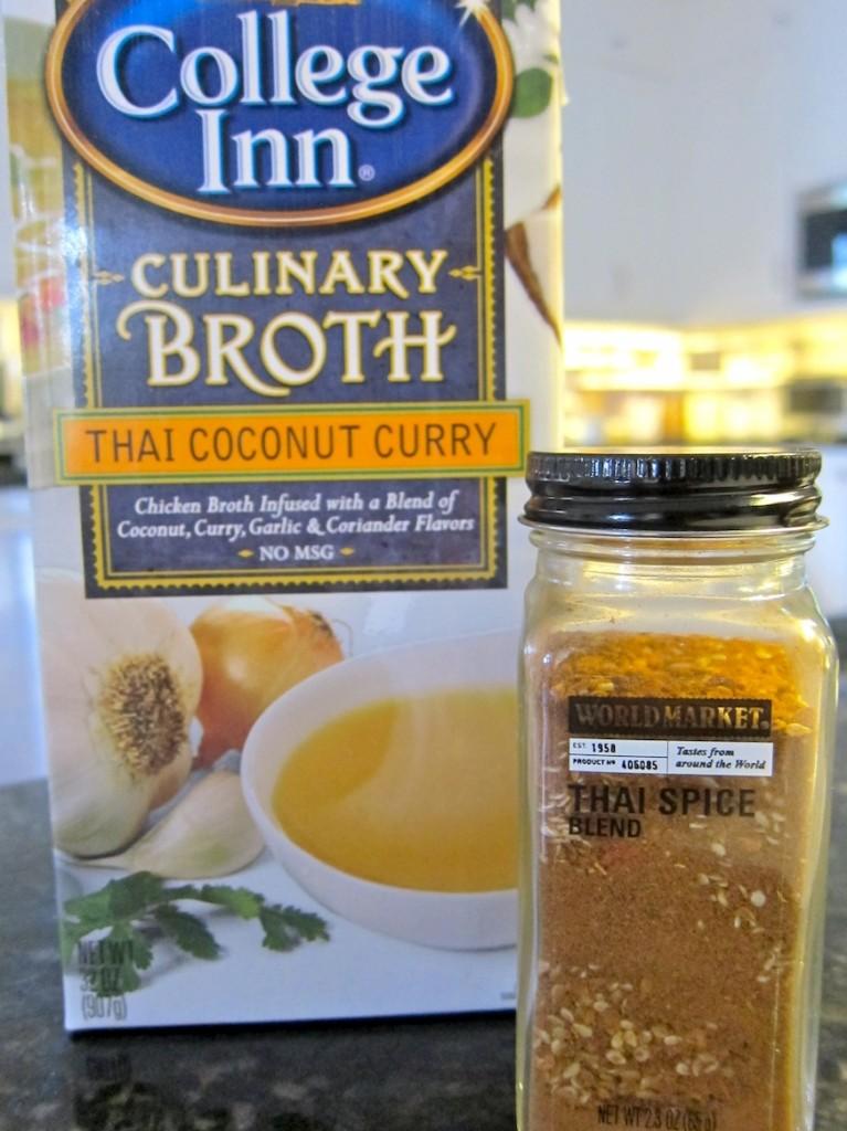 College Inn Broth and World Market Thai Spice Blend