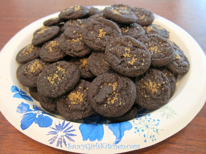Plate of Chocolate Cookies Bites