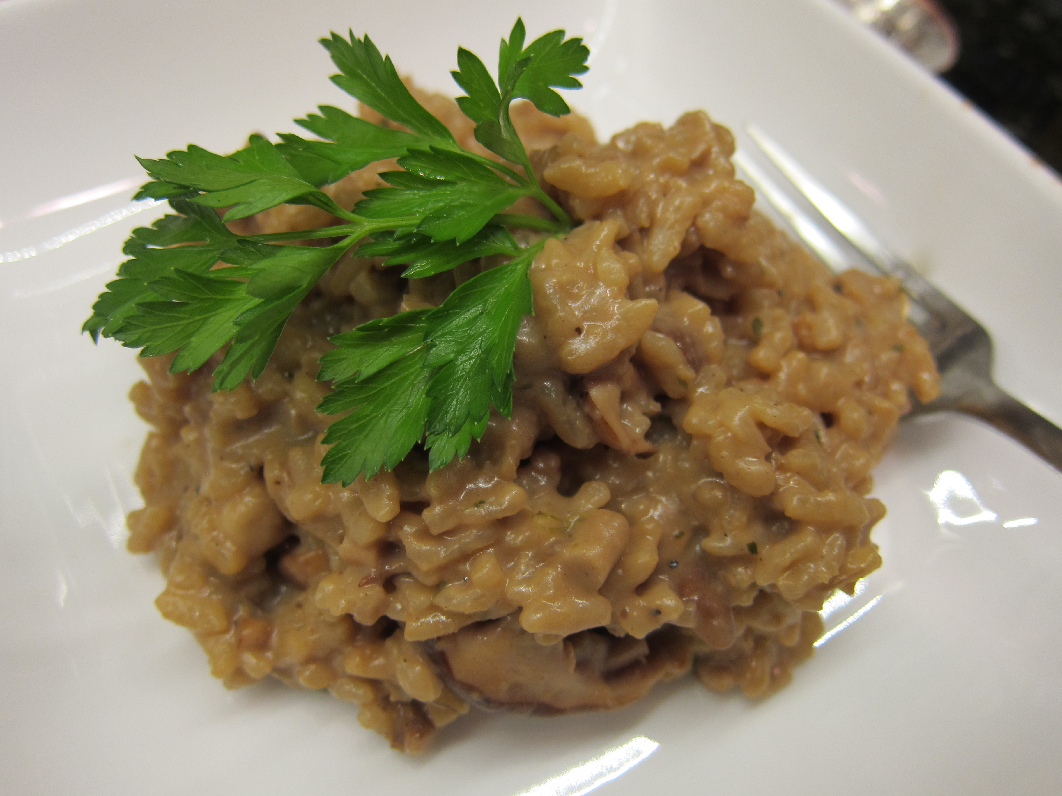 Risotto made with Hickory Nut Broth