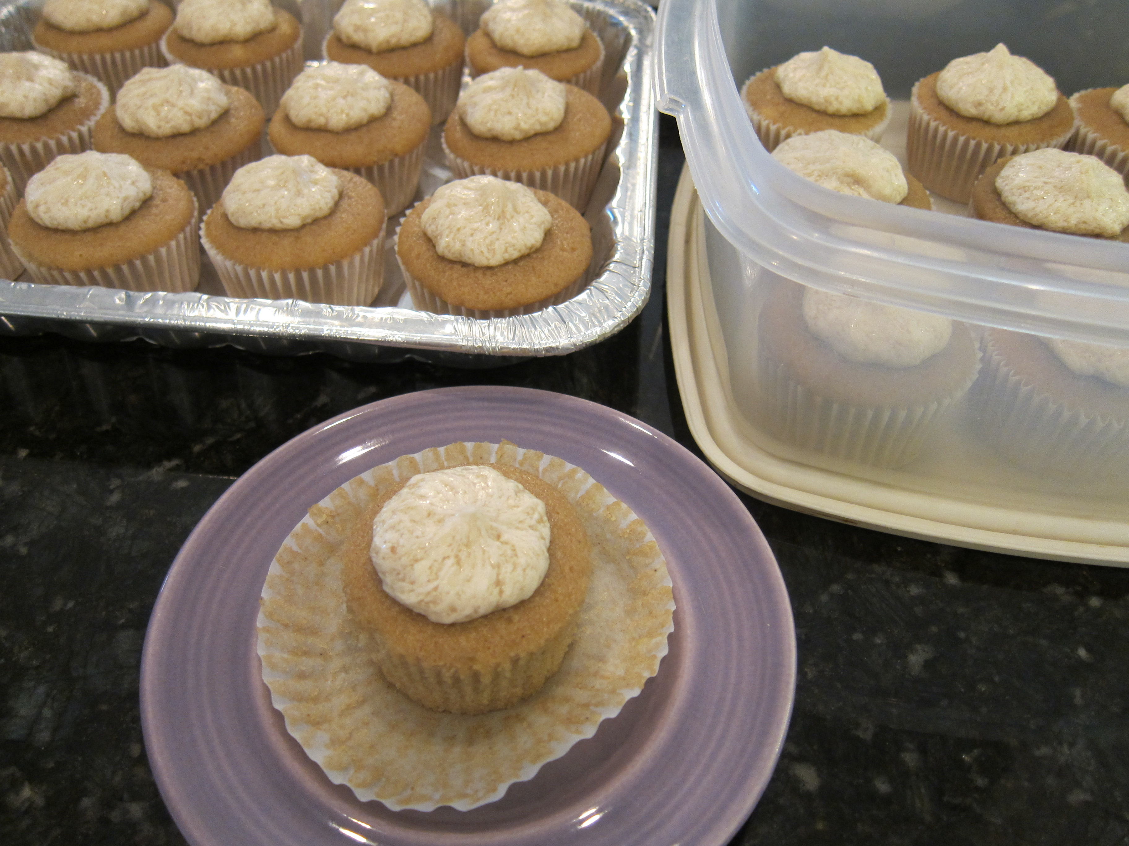 Cupcakes made with hickory nut broth