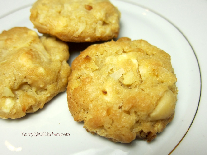Close up of Coconut Macadamia Cookies