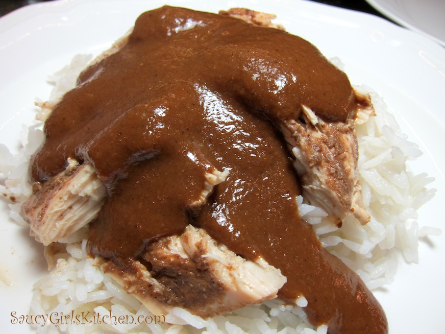 Mole Sauce over Chicken with Rice