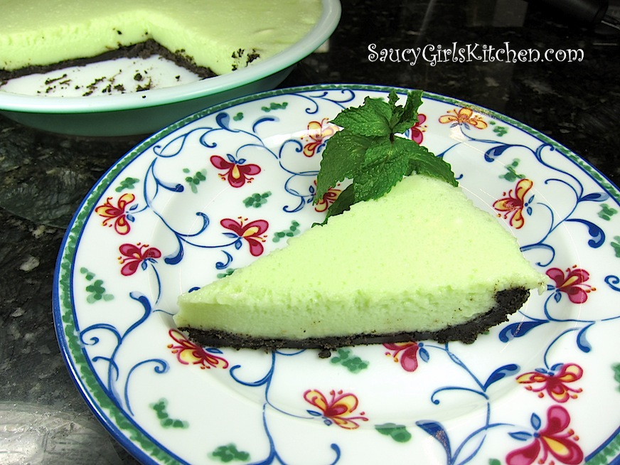 Mint Pie with Oreo Mint Cookie Crust