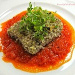 Pecan Crusted Mahi with Roasted Red Pepper Coulis