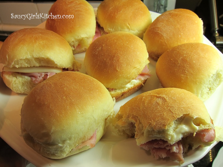 Ham and Cheese Sandwiches on Fresh Buns