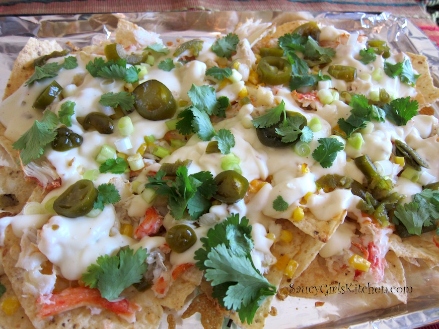 Crab Nachos with Pepper Jack Bechamel Sauce