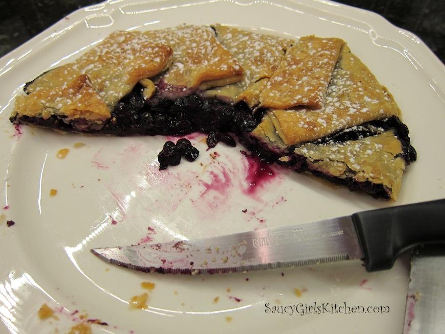Half Eaten Blueberry Crostata